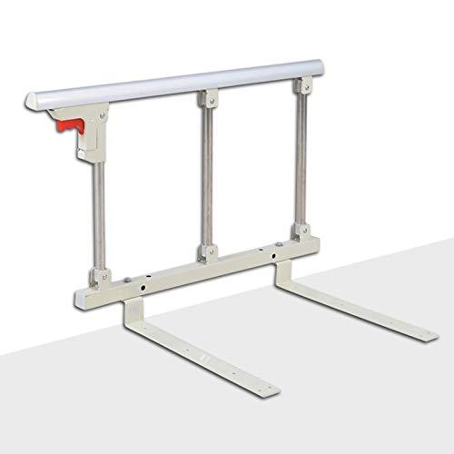 Barandilla plegable de seguridad lateral para personas mayores, adultos, apoyo para barandilla de cama, barandilla de cama de hospital, barra de agarre de metal
