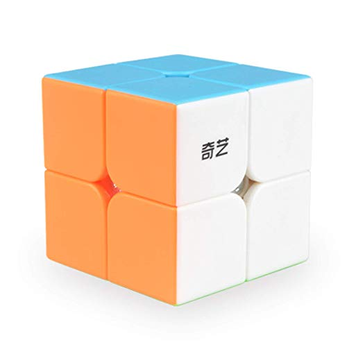 Vdealen 2x2 Magic Cube Stickerless Cube- Smooth Puzzle Cube Toys Cube Game for Kids & Adults