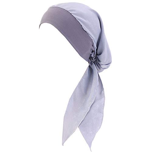 YONKOUNY Cancer Turbante Quimioterapia Para Mujeres Elegante Verano Sombrero de Chemo Oncológico Bufanda de La Cabeza Cómodo Tejido De Seda Headwear Gorro Noche Pèrdida de Pelo Cabello