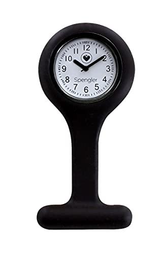 Spengler Reloj de Enfermería para un Aspecto Perfecto, Ligero, Resistente y Práctico (Carbón)