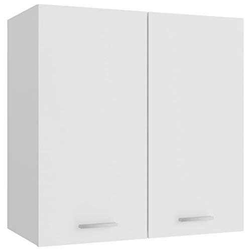 vidaXL Armario de Cocina Muebles Mobiliario Duradero Mesa de Trabajo Almacenamiento Cuencos Platos Ollas Alacena de Aglomerado Blanco 60x31x60 cm