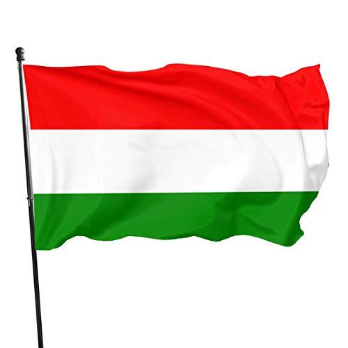 N/A Flagge,Fahne,Garten Banner,Hanging Flag Dekor,Ungarn Polyester Flagge - Lebendige Farbe Und Uv-Lichtechtheit Für Den Außen-/Innenbereich 150X90 cm
