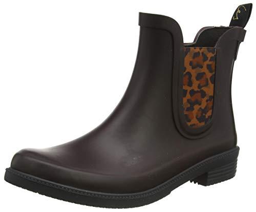 Joules Women's Rutland Rain Boot, Dark Brown, 6 UK