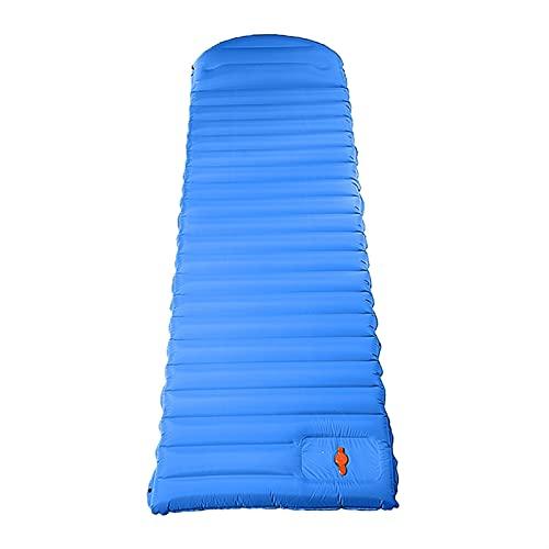 WYDMBH Sofa Hinchable Viaje de la Cama de colchón de Aire Inflable al Aire Libre Estera para Dormir con Almohada Ultralight Senderismo Senderismo Camping Camping Almohadilla (Color : Blue)