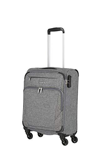 travelite 4-Rad Weichgepäck Koffer Handgepäck mit Zahlenschloss erfüllt IATA Bordgepäck Maß, Gepäck Serie JAKKU: Leichter Trolley im klassischen Design, 092547-04, 54 cm, 33 Liter, anthrazit