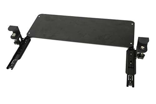 ybaymy キーボードトレイ 机の下キーボードスライダー 頑丈なCクランプマウントシステム パンチフリー キーボードトレイのクランプ マウス収納対応 オフィス/ホーム/学校に最適