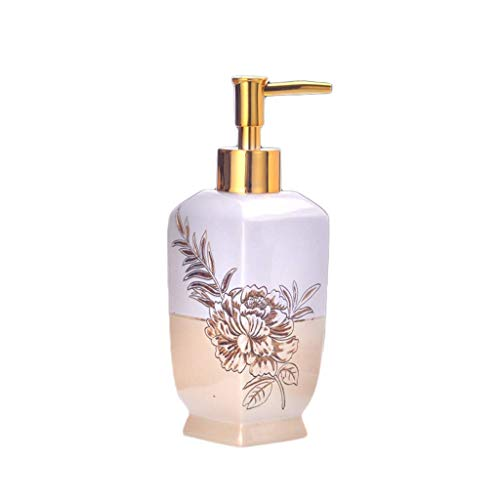 JXXDDQ Lotion Seifenspender Hotels Hand Sanitizer Flasche Harz Kreative Hand Sanitizer Dispensing Empty Bottle Club-Customized-Shampoo-Bad Pressing Flasche (Size : Gold)
