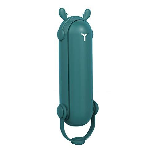5-IN-1 Ventilatore Portatile, Mini Ventilatore Pieghevole USB Ricaricabile, 2000 mAh, 2 Velocità Silenzioso Fan per 14-24 Ore per Viaggiare con Luce a LED, Power Bank, Repellente per Zanzare Funzione