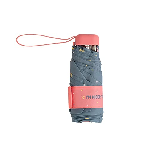 Mr.Wonderful - Paraguas Plegable manual ultraligero con funda a juego  Paraguas Antiviento Pequeño y Compacto Ideal para Viajes, Mujer - Azul