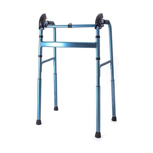 Teng Peng Faltbarer Gehassistent for ältere Menschen mit Gehhilfe aus Aluminium Automatische EIN-Knopf-Höheneinstellung, Lagergewicht bis 100 kg, blau Medizinischer Walker (Color : Blue)