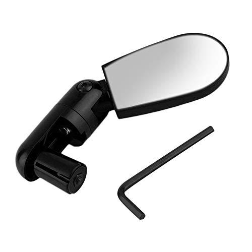 QiKun-Home Mini Negro Flexible Giratorio Seguro Bicicleta de montaña Bicicleta Motocicleta Espejo retrovisor Reflectante automático Manillar para Exteriores Negro
