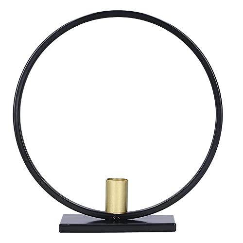 Kandelaar, Zwart + Goud Moderne Stijl Decoratieve Kandelaar Smeedijzer voor Slaapkamer Woonkamer Decoratie