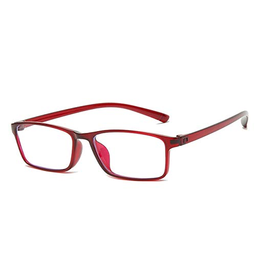 NONGLAN Gafas De Lectura, Gafas De Bloqueo De Luz Azul De Alta Dureza con Marco Ligero para Mujeres Y Hombres, Gafas Antideslumbrantes (Color : Red, Size : 1.5X)