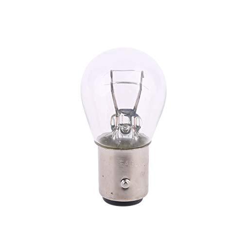 Desconocido moregirl 2 uds P21 / 5W S25 12V21 / 5 BAY15D lámpara de Cristal Transparente para Coche Bombilla Trasera de Freno indicador de Coche lámpara de Parada halógena Bombillas de Freno