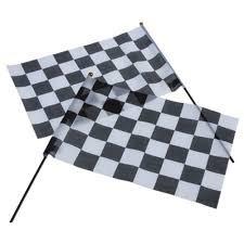 Racing Flags/12X18Cloth 1 Dozen  Bulk