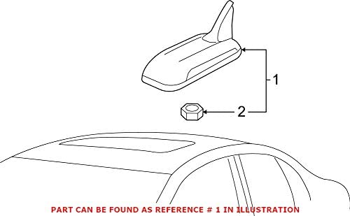Genuine Courier shipping free shipping OEM Radio Antenna 3C0035507Q Volkswagen Inexpensive Mast for