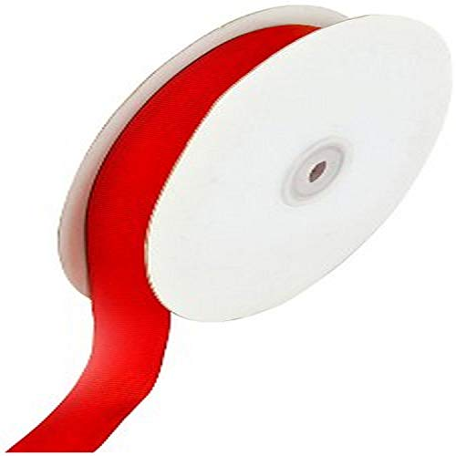 Creative Ideas 50-Yard Solid Grosgrain Ribbon, 5/8-Inch, Red