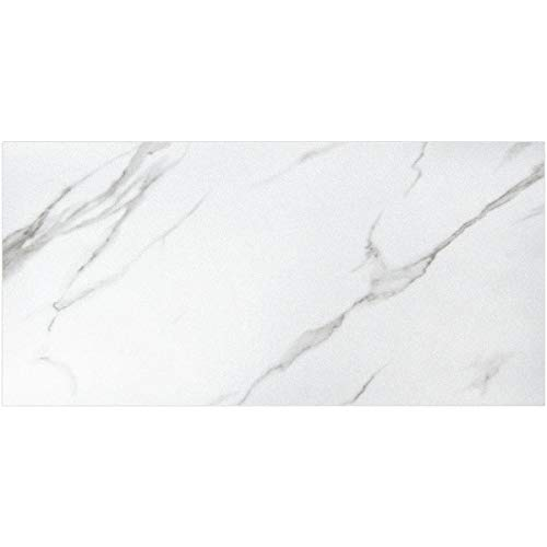 Art3d Peel and Stick Backsplash Tile PVC Engineered Marble, 48-Pack of Sized 11.8