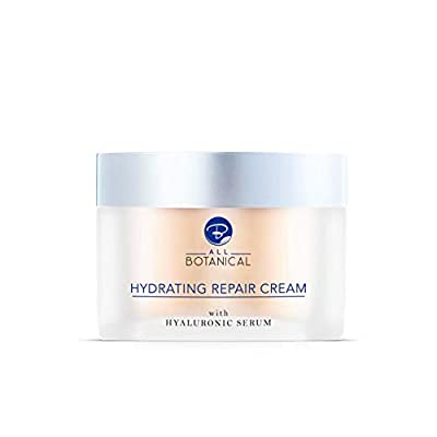 Anti-Wrinkle Cream with Hyaluronic Serum, Aloe Vera, Vitamins C, E, B5, Snail Extract + More - Intensive Natural Day Cream to Repair Your Skin and Reduce Signs Of Ageing, 50 ml by All Botanical