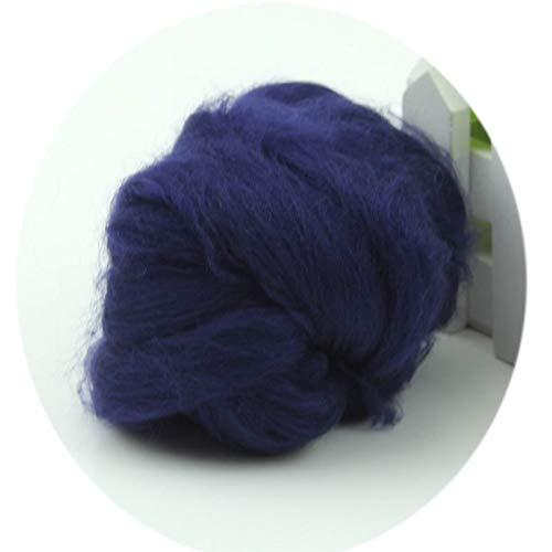 Qitao Wollfilz 20 Farben Wolle Corriedale Needlefelting Top Roving Gefärbtes Spinning Naßfilzen Fiber (Color : FB)