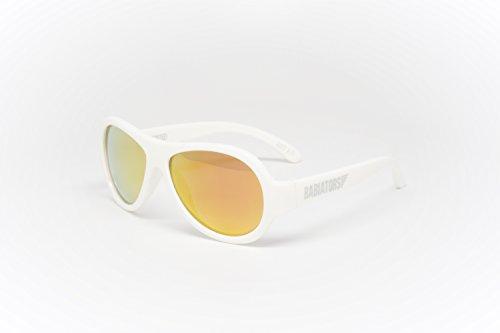 Babiators - Gafas de sol Aviador BAB-051 para bebé, Wicked White