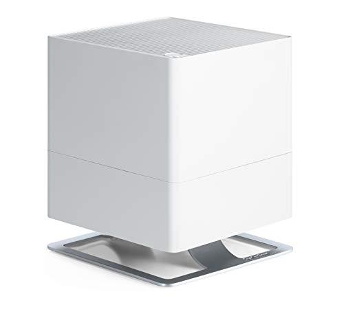 Stadler Form Luftbefeuchter Oskar, energiesparender Raumbefeuchter für Räume bis 50 m², Verdunster mit Abschalt-Automatik, dimmbare LEDs, sehr leise, weiss