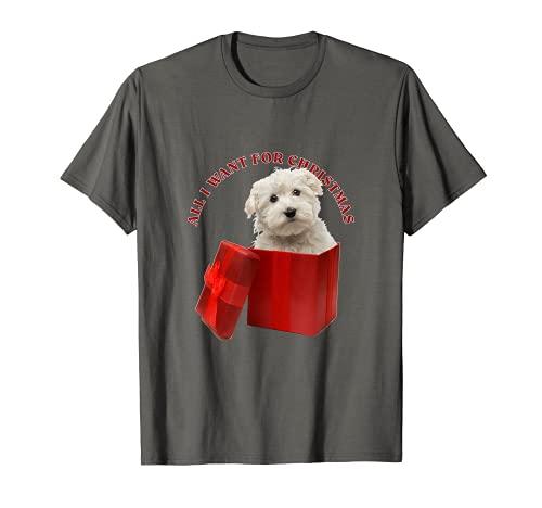 Todo lo que quiero para Navidad Maltés Camiseta