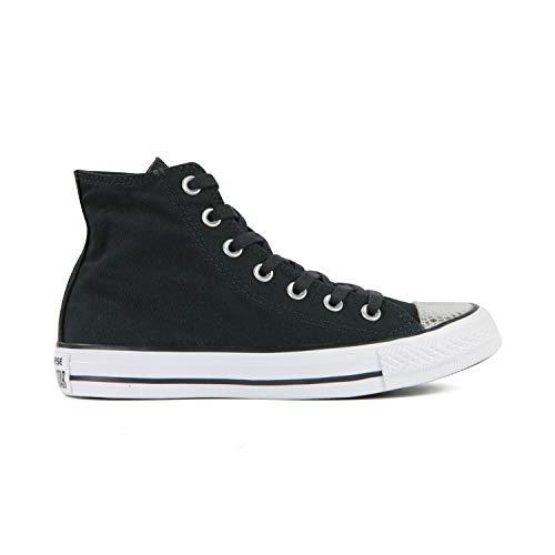 Converse Chuck Taylor All Star High Classic CTAS Hi - Zapatillas altas de lona, unisex, con pegatina de 7 km/h, color Plateado, talla 36 EU Schmal