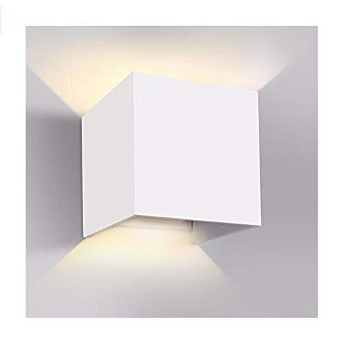 Divgdovg Applique Murale Exterieur Interieur Noire,Anti-Eau IP65 Réglable Lampe Up and Down Moderne Design chaud pour le porche lumineux de jardin couloir cheminBlanc 12W blanc chaud