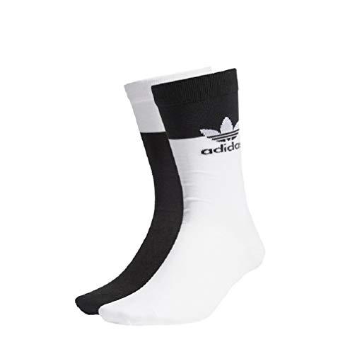 adidas Blocked Thin Socks - Calcetines (2 unidades) blanco/negro XS