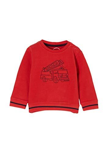 s.Oliver Unisex - Baby Sweatshirt mit Patch-Applikation red 50/56