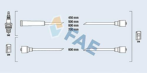 FAE 83030 Juego de cables de encendido