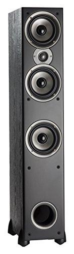 Polk Audio Monitor 60 Series II Floorstanding Speaker (Black, Single) - Bestseller for Home Audio | Affordable Price | 1' Tweeter, (3) 5.25' Woofers