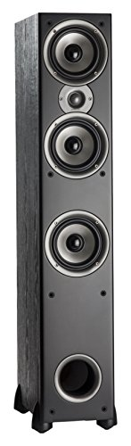 Polk Audio Monitor 60 Series II Floorstanding Speaker - Bestseller for Home Audio | Big Sound | Affordable Price | 1 (1-inch) Tweeter and 3 (5.25-inch) Woofers | Black, Single, AM6095-B
