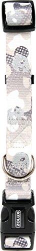 Zolux Collier Nylon Réglable pour Chien Motif Camouflage/Tête de Mort Largeur 15 mm Tour de Cou 22,5 à 37 cm
