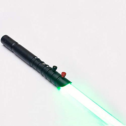 Lightsaber of Metal Aluminum Hilt, Black Series LED Rechargeable Light Saber Force FX Heavy Dueling with Realistic Light and Blaster Sound, Gift for...