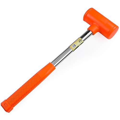 Stark Dead Blow Hammer 12lbs-Pound Mallet with Non-Slip Handle Rubber Hammer Shot Shock Absorbing, Orange