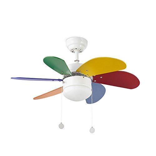 Ventilatore a Soffitto Lorefar 33179 Modello Palao Multicolor