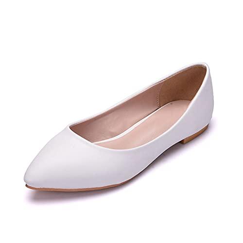 SHUONING Zapatos De Novia De Mujer, Zapatos De Boda Nupciales Blancos Cómodos...