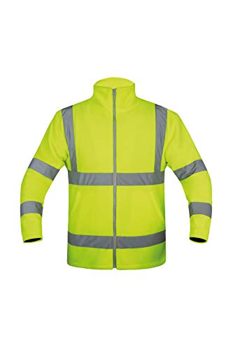 Korntex KXFJGXL Fleecejacke, High-Viz Gelb, XL