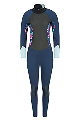 Mountain Warehouse Womens Full Wetsuit - 2.5mm, Neoprene Contour Fit Teal 4-6
