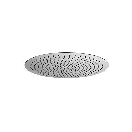 Steinberg 390 1687 Hochwertige auf hochglanz polierte Armatur aus massivem Messing für die Dusche als Regenbrause ultraflach, Chrom, 250 mm