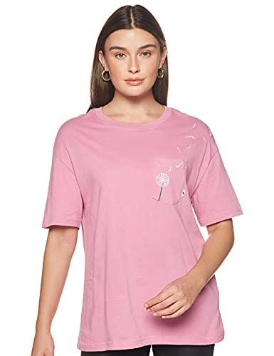 NIKE Sportswear Novelty 2 Shirt, Flamenco Magico/Blanco, XS Womens