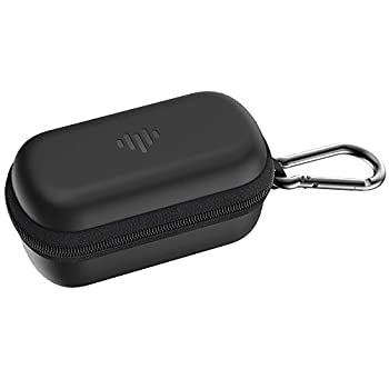 iLuv TBCASE Protective Black Earbud Case with Accessory Storage Mesh Pocket Carabiner Clip Sturdy Zipper & IPX4 Shock-Scratch Resistant Exterior  for The TB100s TB200s & Most Compact Earphones