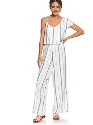 Roxy Damen Komodo Exploring Full Length Romper Jumpsuit, Marshmallow Tea Party Stripe, X-Klein