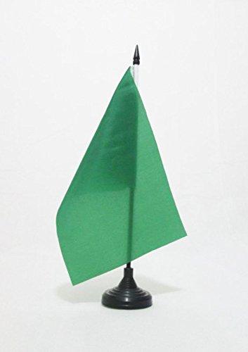 AZ FLAG Bandera de Mesa del COMISARIO DE Pista Verde 21x14cm - BANDERINA de DESPACHO CAMISARIOS DE Carreras - Formula 6 14 x 21 cm