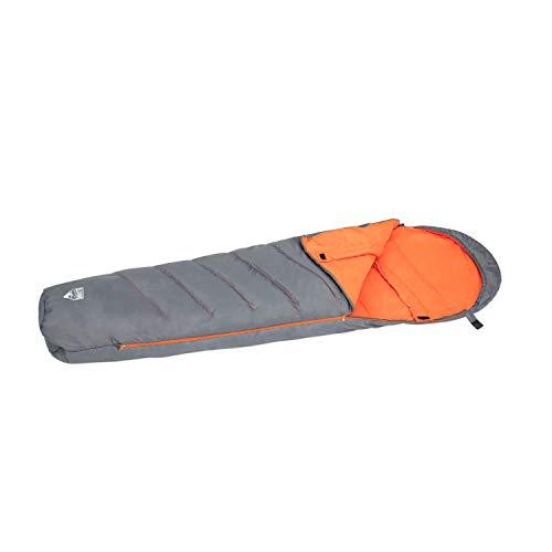 Bestway Pavillo Hiberhide 5 Mummy - Sac de couchage isolé avec tête de lit intégrée et zip pratique, 230 x 80 x 60 cm