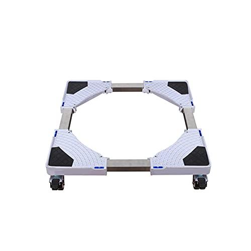 FZYE Soporte móvil para Lavadora Base Ajustable Longitud Ancho 47-70cm Carro para Secadora y refrigerador Soporte de Base para Aire Acondicionado para frigorífico-congelador Altura 10