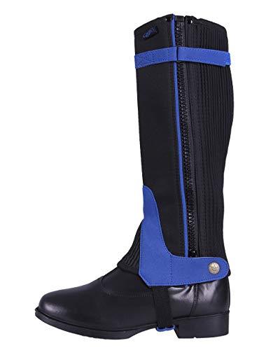 ARBO-INOX® - Chaps - für Reitanfänger - Basismodell - farbig - gestaltet - Kunstvelourleder - Gute Passform (8 Jahre, Blau)