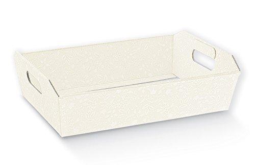 Subito disponibile HARMONY BIANCO cesto vassoio per bomboniere 43.5X29X4.5 cm